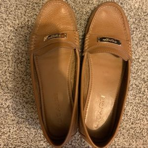 Camel colored coach loafer/boat shoe size 7.5